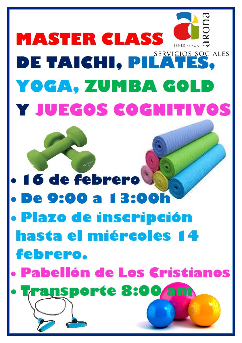 Master Class di Taichí, Pilates, Zumba Gold e giochi di Cogniti ...
