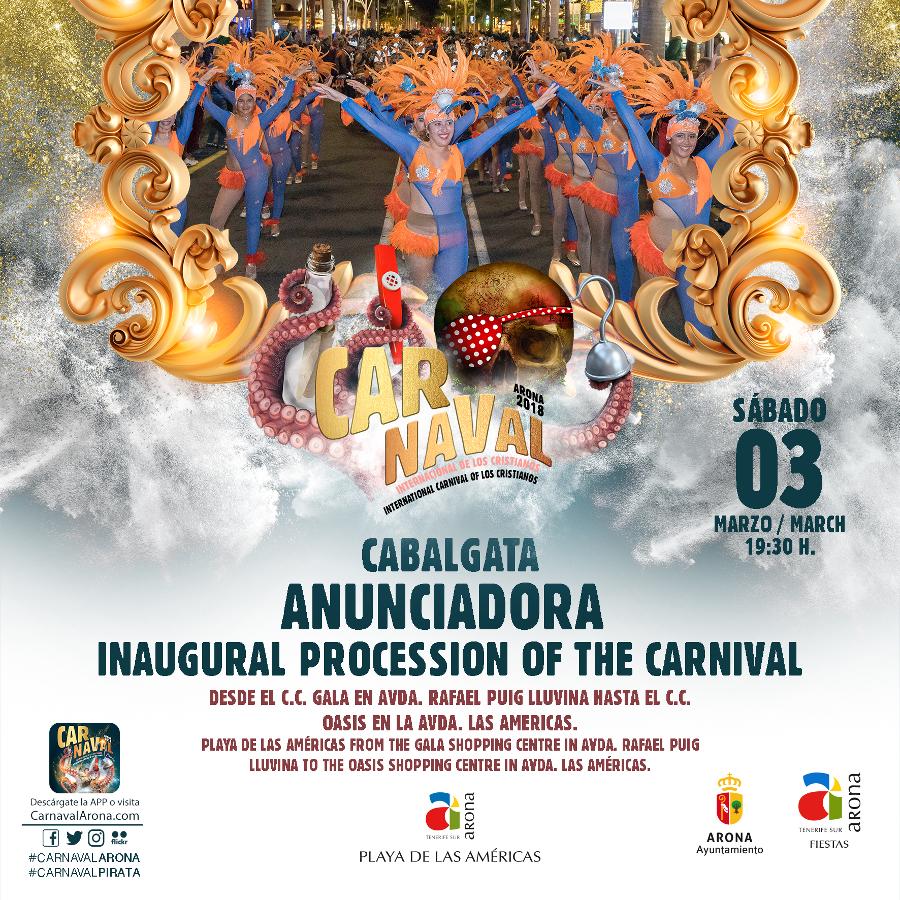 Annunciando Cavalcata del Carnevale Internazionale di Los Cris ...