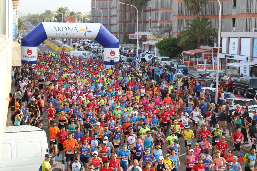 La scorsa settimana per registrarsi per la Mezza Maratona di Las Ga ...