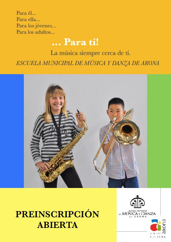 Aperto Pre-iscrizione Scuola Municipale di Musica e Danza 2 ...