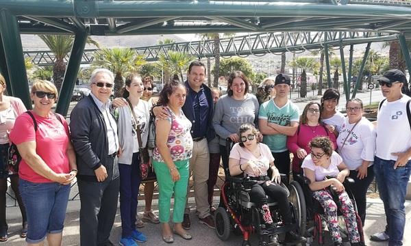 El trabajo de Arona en accesibilidad protagoniza la inauguración del festival Buenavista Diversa