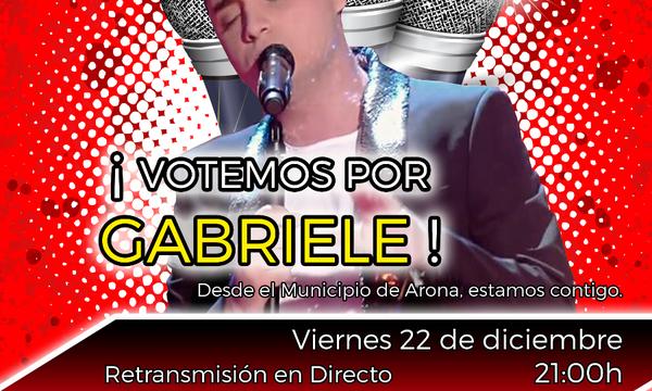 Cartel Gabriele La Voz