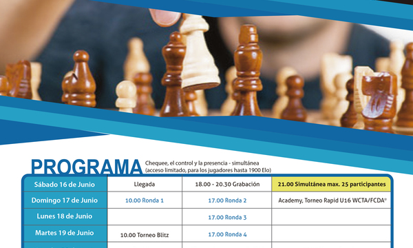 Cartel Torneo internacional de Ajedrez World Chess Trophy Arona 2018