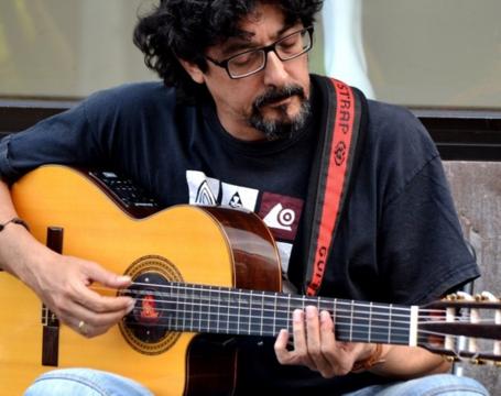 Pedro Lezcano con Poemus y Rogelio Botanz.