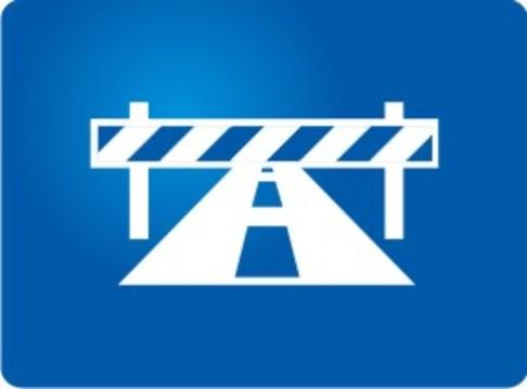 Logo carretera cerrada