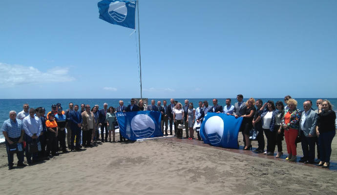 Adeac consegna le bandiere blu di Playa Jardín e San Telmo