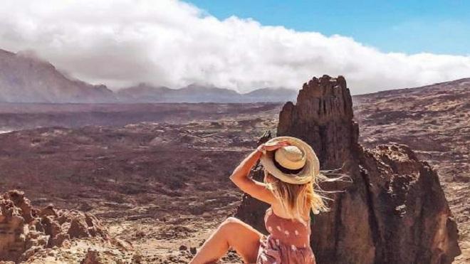 Marina Comes, la influencer en el Teide