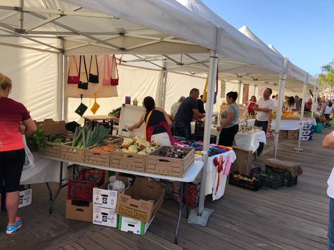 Mercado en Los Cristianos.