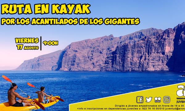 Kayak route through Los Cligantes de Los Gigantes