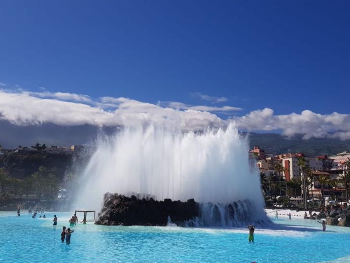 La piscina central del Lago Martiánez, otra vez disponible t...