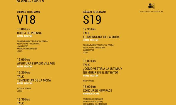 Programa Tenerife Fashion Week
