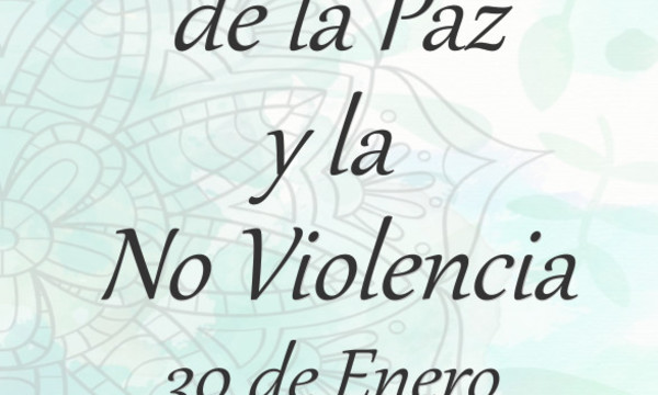 Cartel Semana Escolar de la Paz y la No Violencia