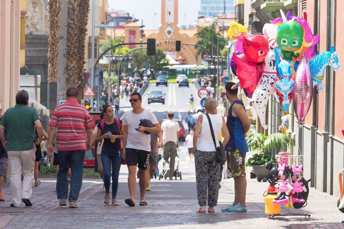 El buen tiempo acompañó a los visitantes de la capital. Sergio Méndez
