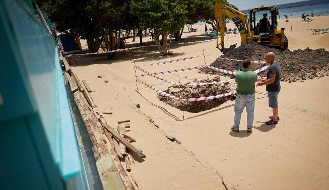 Opere dei nuovi chioschi di Las Teresitas