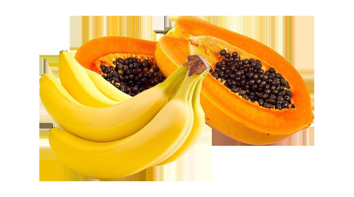 Papaya e banana